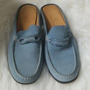 Cole Hann Suade Blue Mule Loafers Size 7
